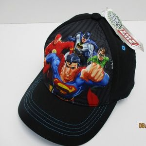 Justice LEAGUE Boys black hat new with tags
